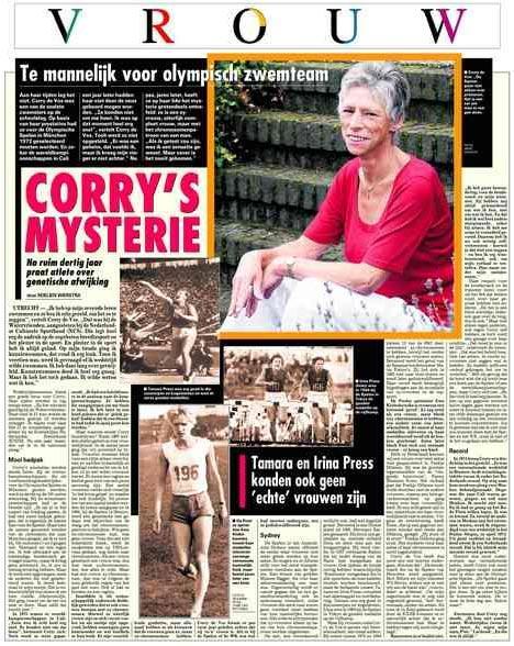 Corry Vos vertelt haar verhaal in de Telegraaf van 14 augustus 2004.